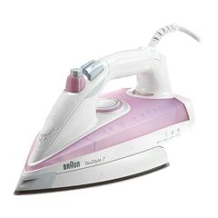 Утюг BRAUN TS715, 2300 Вт, антипригарное покрытие, самоочистка, белый/фиолетовый