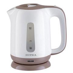 Чайник SUPRA KES-1724, 1,7 л, 2200 Вт, закрытый нагревательный элемент, пластик, белый/бежевый