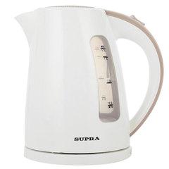 Чайник SUPRA KES-1726, 1,7 л, 2200 Вт, закрытый нагревательный элемент, пластик, белый/бежевый