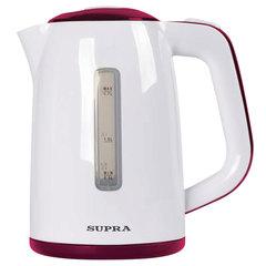 Чайник SUPRA KES-1728, 1,7 л, 2200 Вт, закрытый нагревательный элемент, пластик, белый/красный
