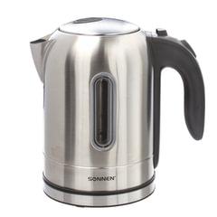 Чайник SONNEN KT-1755, 1,7 л, 2200 Вт, закрытый нагревательный элемент, нержавеющая сталь