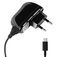 Зарядное устройство сетевое (220 В) DEPPA, кабель Type-C 1,2 м, выходной ток 2,1 А, черное