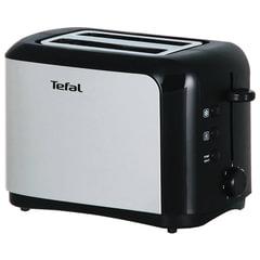 Тостер TEFAL TT356131, 850 Вт, функция разморозки, нержавеющая сталь, серебристый/черный