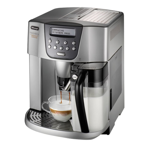 Кофемашина DELONGHI ESAM4500.S, 1350 Вт, объем 1,8 л, емкость для зерен 200 г, автокапучинатор, серебристый