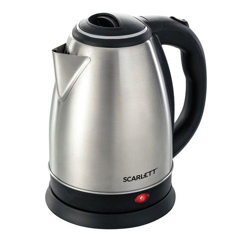 Чайник SCARLETT SC-EK21S41, 2 л, 1800 Вт, закрытый нагревательный элемент, сталь
