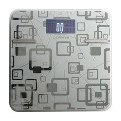 Весы напольные диагностические POLARIS PWS 1834DGF, электронные, вес до 180 кг, квадратные, стекло
