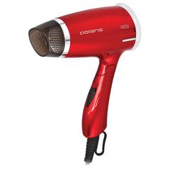 Фен POLARIS PHD 1463T, 1400 Вт, 3 скоростных режима, холодный обдув, складная ручка, красный