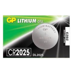 Батарейка GP Lithium, CR2025, литиевая, 1 шт., в блистере (отрывной блок)
