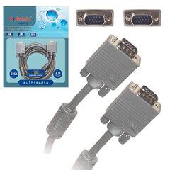 Кабель VGA/SVGA BELSIS, 3 м, для передачи аналогового видео, 2 фильтра