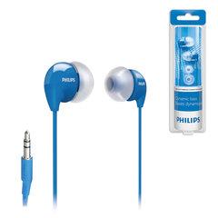 Наушники PHILIPS SHE3590BL/10, проводные, 1,2 м, стерео, вкладыши с шумоподавлением, голубые