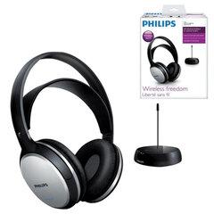 Наушники PHILIPS SHC5100/10, беспроводные, Hi-Fi, полноразмерные c оголовьем, с амбушюрами, радиус действия 100 м
