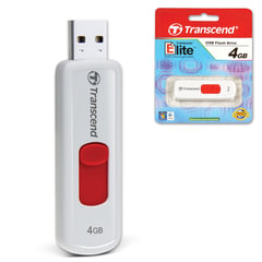 Флэш-диск 4 GB, TRANSCEND Jet Flash 530, USB 2.0, белый
