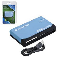 Картридер DEFENDER ULTRA, USB 2.0, порты SD, MMC, TF, M2, CF, XD, MS