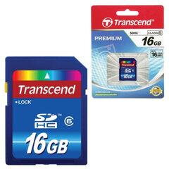 Карта памяти SDHC 16 GB TRANSCEND скорость передачи данных 6 Мб/сек. (class 6)