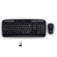 Набор беспроводной LOGITECH MK330, клавиатура, мышь, 2 кнопки + 1 колесо-кнопка, цвет черный