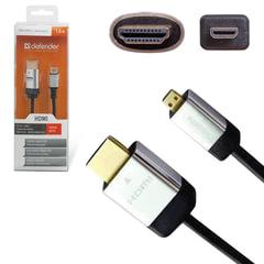 Кабель HDMI-micro HDMI, 1,8 м, DEFENDER, M-M, для передачи цифрового аудио-видео
