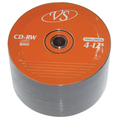 Диски CD-RW VS, 700 Mb, 4-12x, 50 шт., Bulk