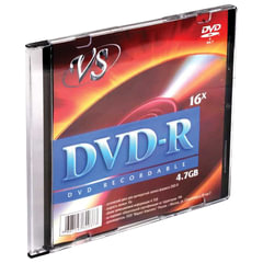 Диск DVD-R VS, 4,7 Gb, 16x, Slim Case