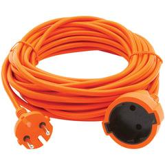 Удлинитель в бухте POWER CUBE, 1 розетка без заземления, 10 м, 2х0,75 мм, 1300 Вт, оранжевый