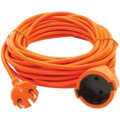 Удлинитель в бухте POWER CUBE, 1 розетка без заземления, 30 м, 2х0,75 мм, 1300 Вт, оранжевый