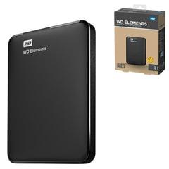 """Диск жесткий внешний WESTERN DIGITAL Elements Portable 1Tb, 2.5"""", USB 3.0, черный"""