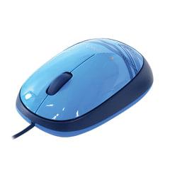 Мышь проводная LOGITECH M105, USB, 2 кнопки + 1 колесо-кнопка, оптическая, синяя