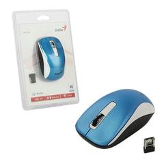Мышь беспроводная GENIUS NX-7010, 2 кнопки + 1 колесо-кнопка, оптическая, бело-голубая
