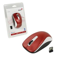 Мышь беспроводная GENIUS NX-7010, 2 кнопки + 1 колесо-кнопка, оптическая, бело-красная