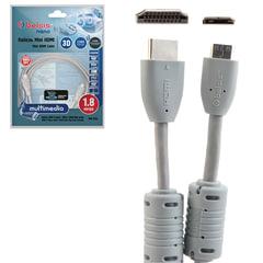 Кабель HDMI-mini HDMI, 1,8 м, BELSIS, M-M, для передачи цифрового аудио-видео, BGL1143