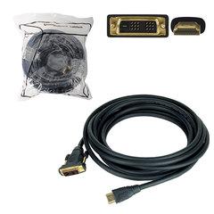 Кабель HDMI-DVI-D, 30 м, GEMBIRD, экранированный, для передачи цифрового аудио-видео, CC-HDMI-DVI-30M