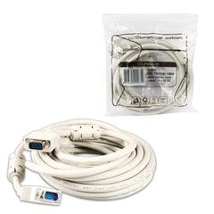 Кабель VGA, 3 м, GEMBIRD, 2 фильтра, для высокоскоростной передачи аналогового видео, CC-PVGA-10