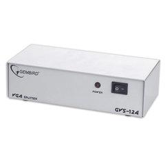Разветвитель видеосигнала VGA GEMBIRD,15F/15F, 1 ПК на 4 монитора, каскадируемый, GVS124