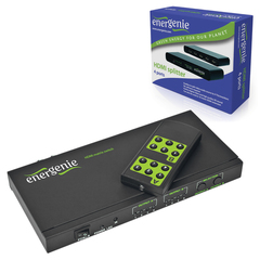 Переключатель HDMI ENERGENIE, F-F, 4 устройства на 2 монитора, ПДУ, DSW-HDMI-41