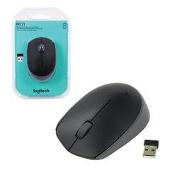 Мышь беспроводная LOGITECH M171, 2 кнопки + 1 колесо-кнопка, оптическая, черная