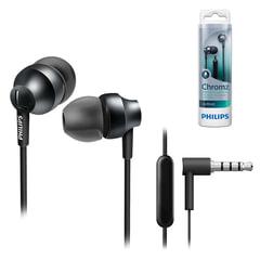 Наушники с микрофоном (гарнитура) PHILIPS SHE3855SG/00, проводная, 1,2 м, вкладыши, стерео, черные