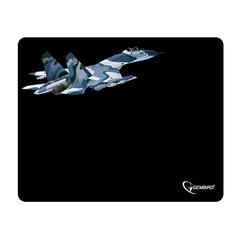 """Коврик для мыши GEMBIRD MP-GAME8 """"Самолет"""", ткань+резина, 250x200x3 мм, черный"""