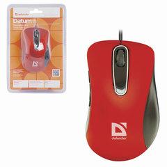 Мышь проводная DEFENDER Datum MM-070, USB, 4 кнопки + 1 колесо-кнопка, оптическая, красная