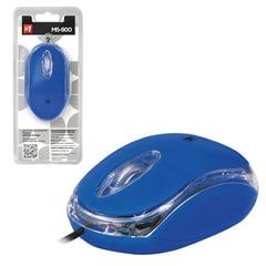 Мышь проводная DEFENDER MS-900, USB, 2 кнопки + 1 колесо-кнопка, оптическая, синяя