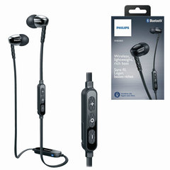 Наушники с микрофоном (гарнитура) PHILIPS SHB5850BK/51, беспроводные, радиус действия 10 м, черные