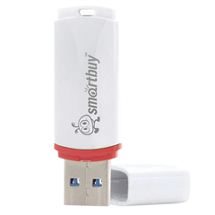 Флэш-диск 32 GB, SMARTBUY Crown, USB 2.0, белый