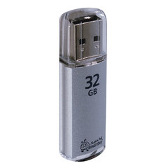 Флэш-диск 32 GB, SMARTBUY V-Cut, USB 2.0, серебристый