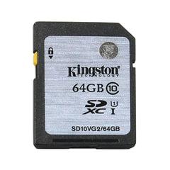 Карта памяти SDXC, 64 GB, KINGSTON, скорость передачи данных 45 Мб/сек (class 10)