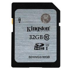Карта памяти SDHC, 32 GB, KINGSTON, скорость передачи данных 45 Мб/сек (class 10)