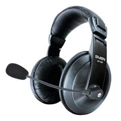 Наушники с микрофоном (гарнитура) SVEN AP-860MV, проводные, 2 м, с оголовьем, черные