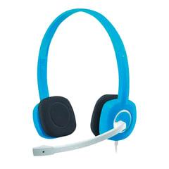 Наушники с микрофоном (гарнитура) LOGITECH H150, проводные, 1,8 м, с оголовьем, синие