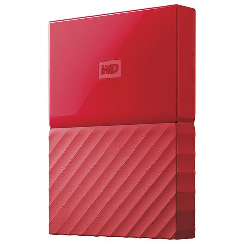 """Диск жесткий внешний WESTERN DIGITAL """"My Passport"""", 1 Tb, 2,5"""", USB 3.0, красный"""