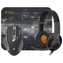Набор игровой DEFENDER Warhead MPH-1500, мышь 5 кнопок + 1 колесо, гарнитура 2,5 м, коврик для мыши, черный