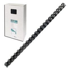 Пружины пластиковые для переплета FELLOWES, комплект 100 шт., 10 мм, для сшивания 41-55 л., черные