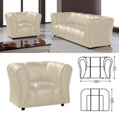"""Кресло """"Ригель"""", 705х980х860 мм, c подлокотниками, экокожа, бежевый"""