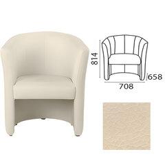 """Кресло """"Club"""", 814х708х658 мм, c подлокотниками, кожзам, бежевое"""